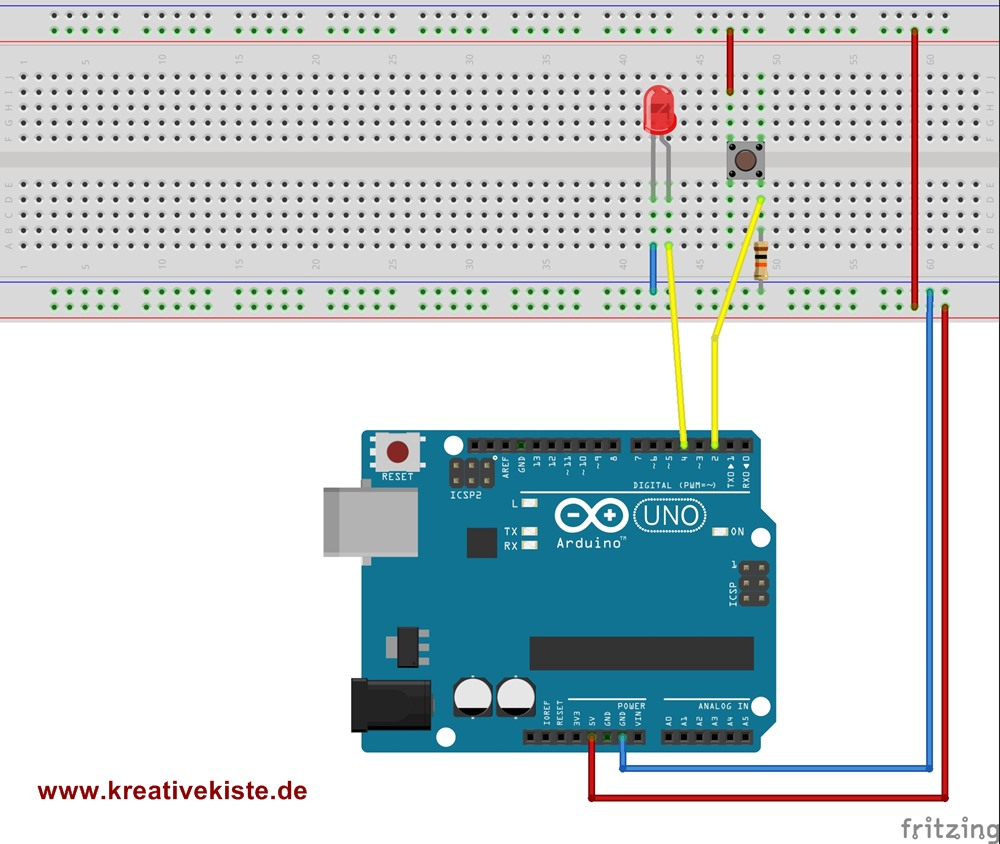 fritzing-push-button Steckplatine