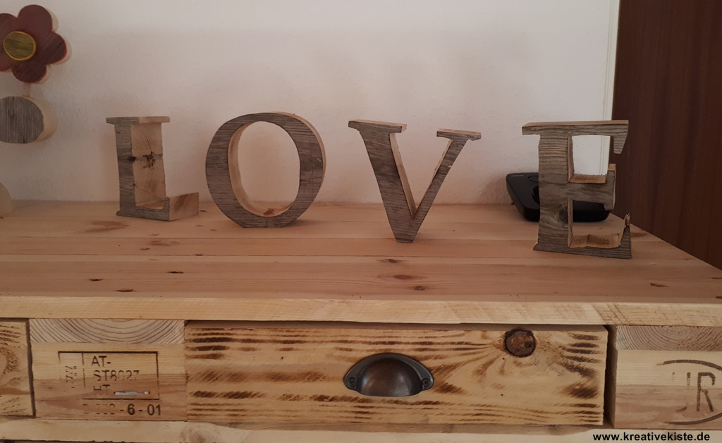 LOVE big letter woodworking