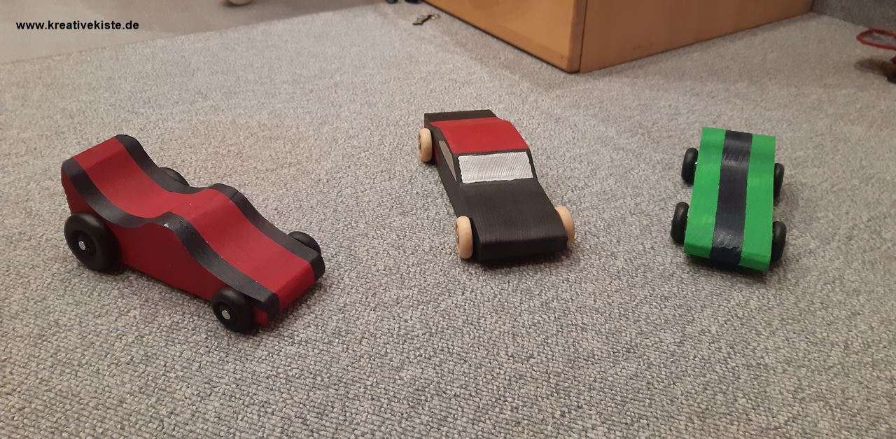 1 pinewood derby cars